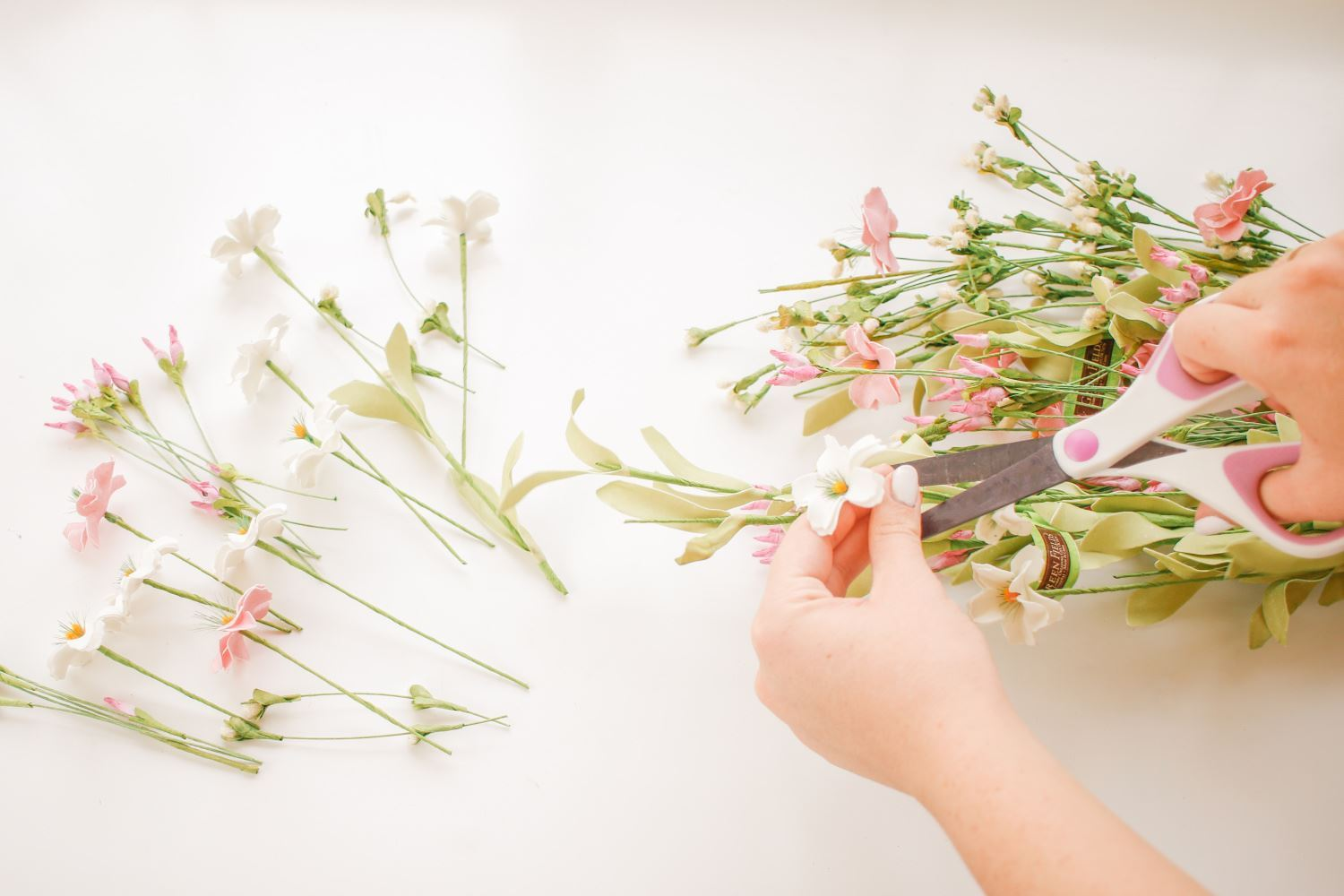 Cut flowers from stems