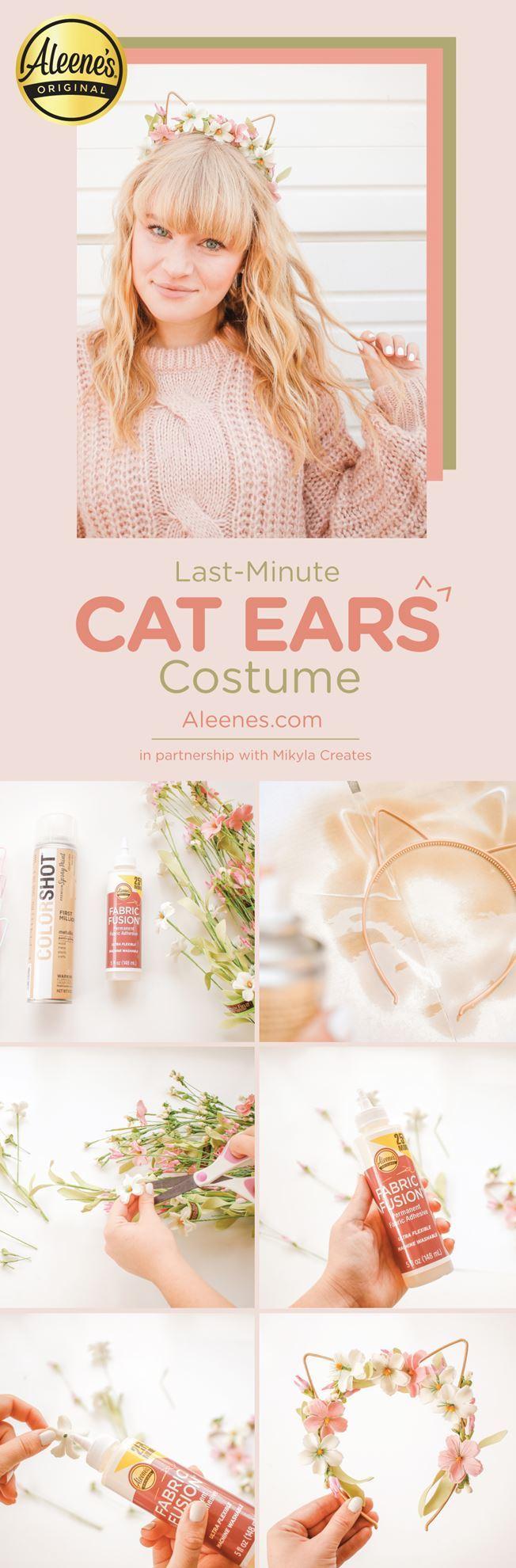 Last Minute Costume DIY: Cat Ears