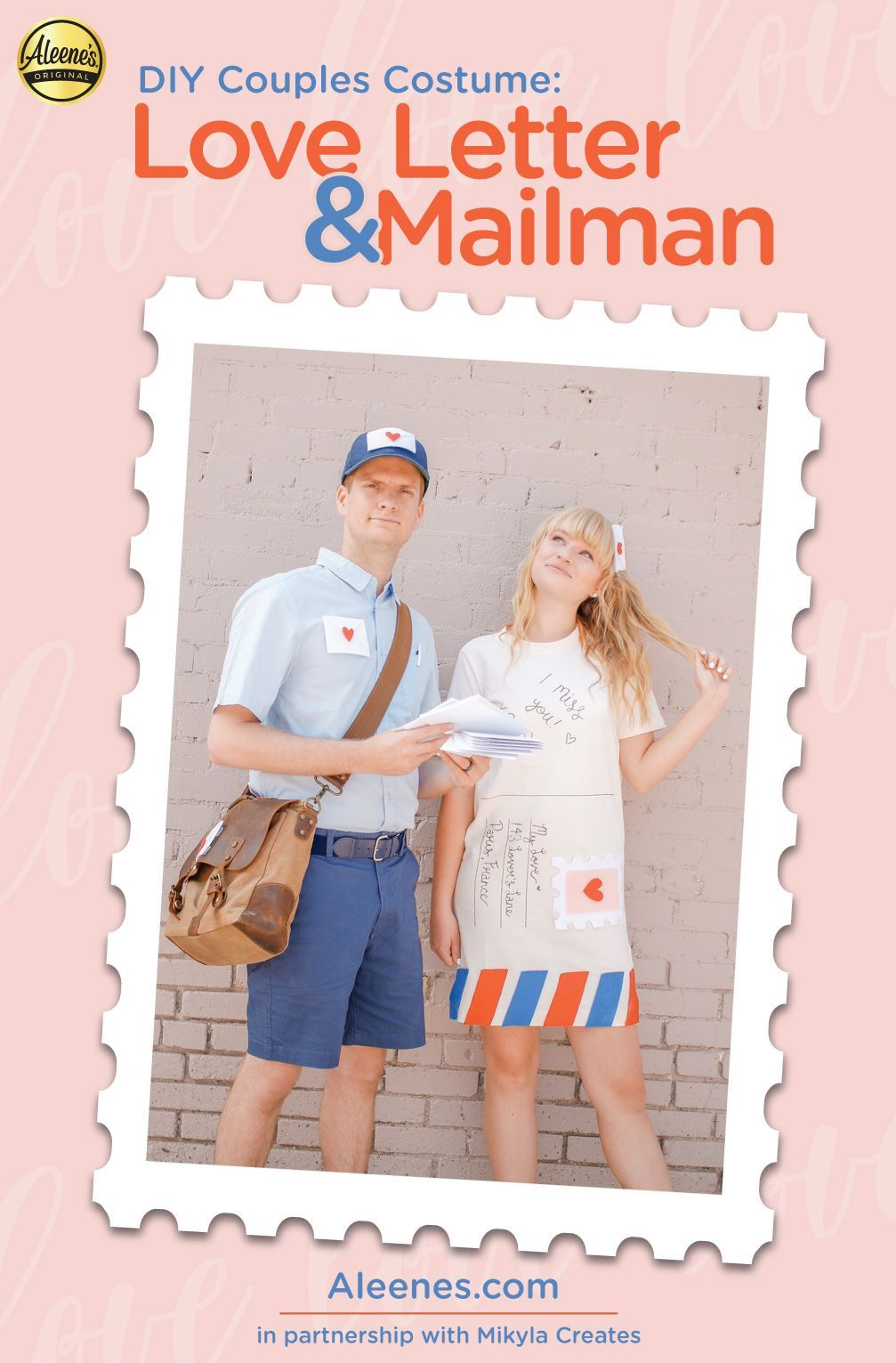 Picture of Love Letter & Mailman DIY Couples Costume