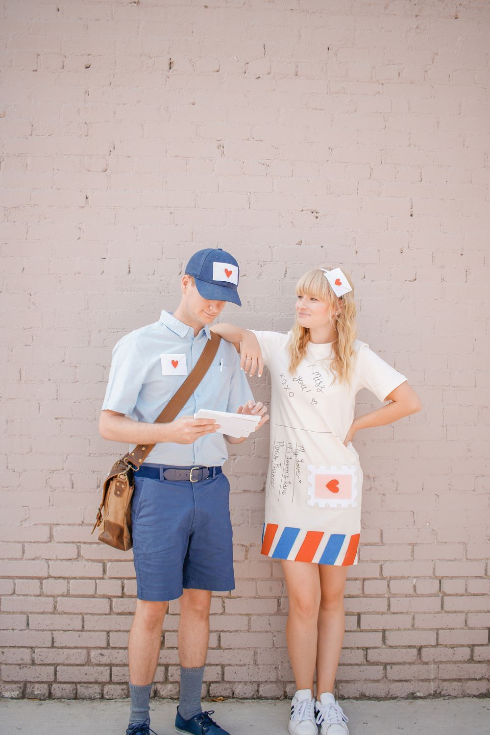 Love Letter & Mailman DIY Couples Costume