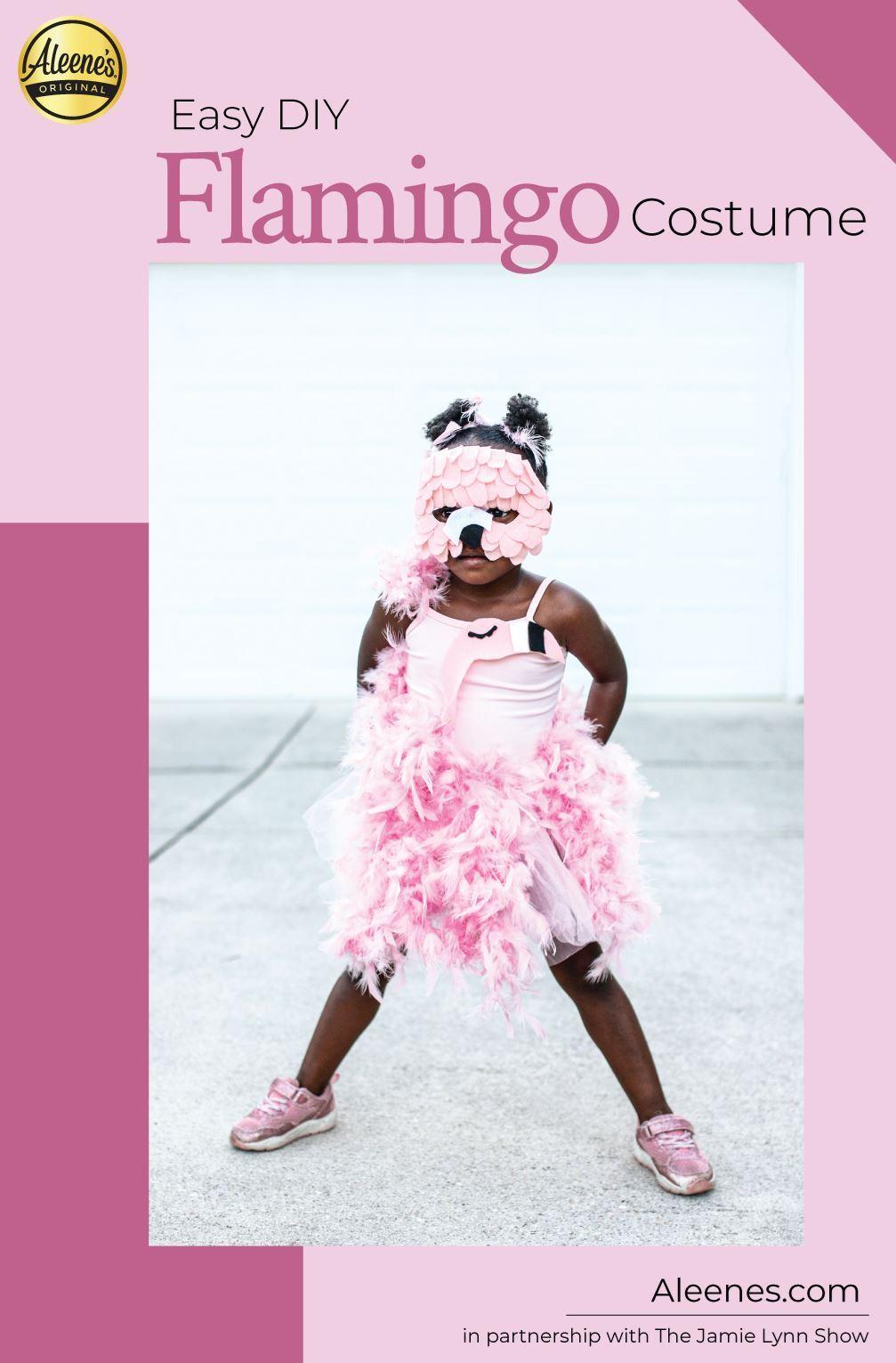 Picture of Flamingo Easy DIY Halloween Costume