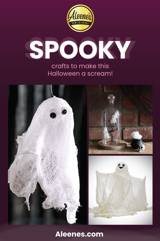 Easy Ghost Crafts with Aleene's Stiffen Quick