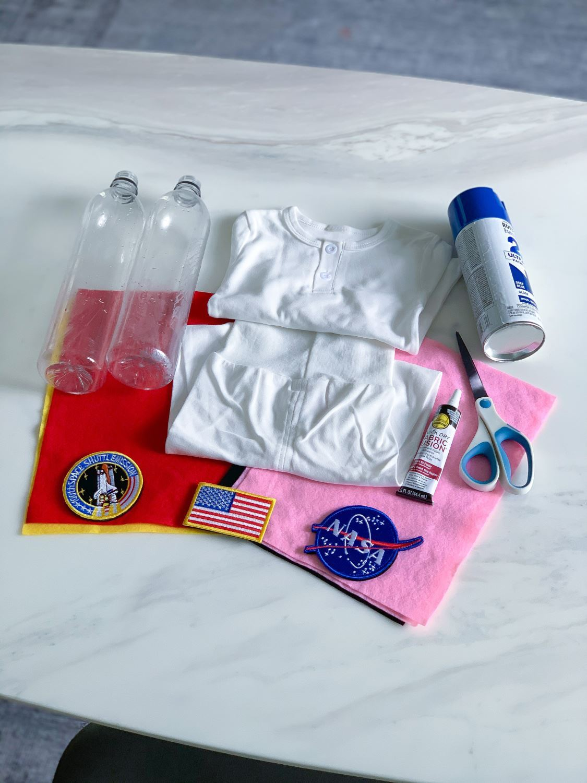 Choose desired felt colors for spacesuit