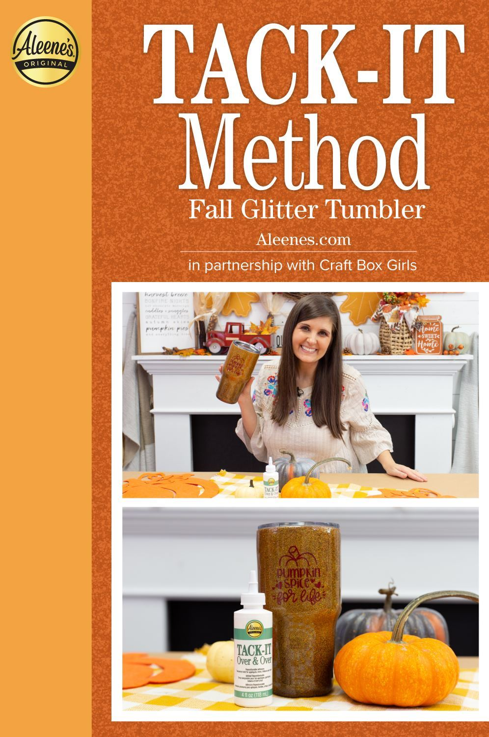 Picture of Tack-It Method Fall Glitter Tumbler