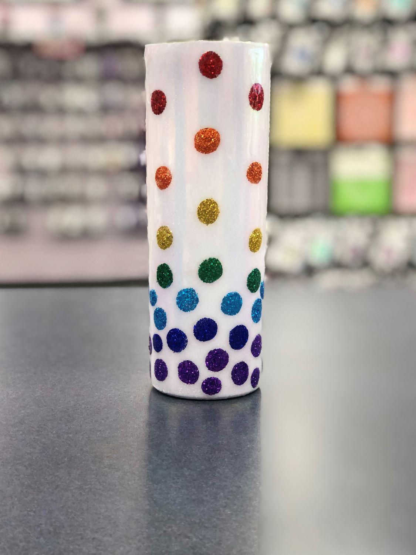 Tack-It Method Glitter Dots Tumbler