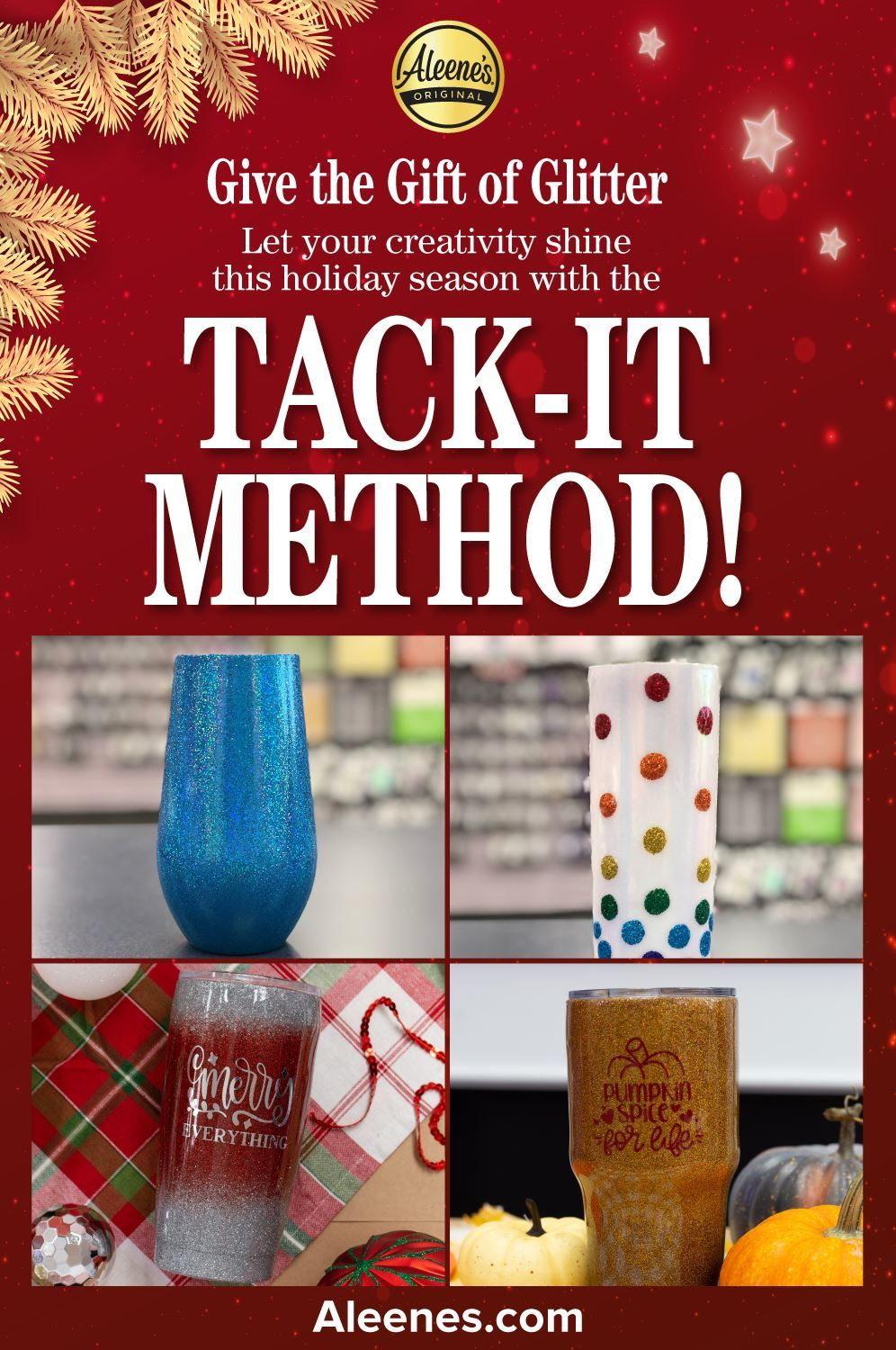 Picture of Tack-It Method Glitter Tumblers