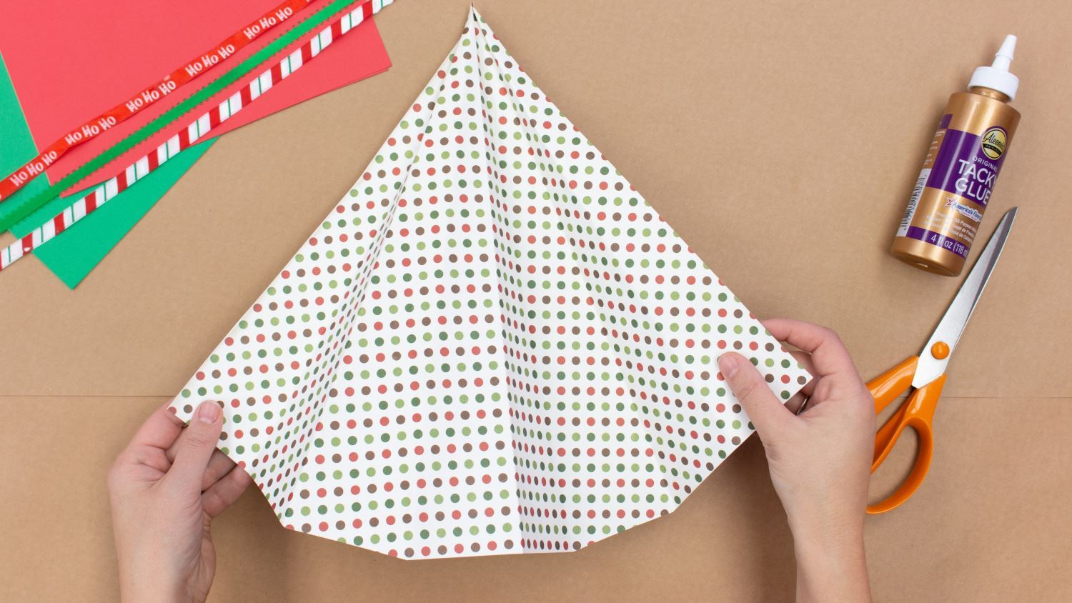 Unfold paper back into a square