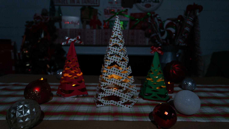 Paper Christmas Tree Luminaries