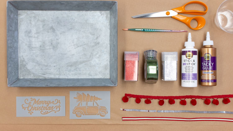 Christmas tray supplies