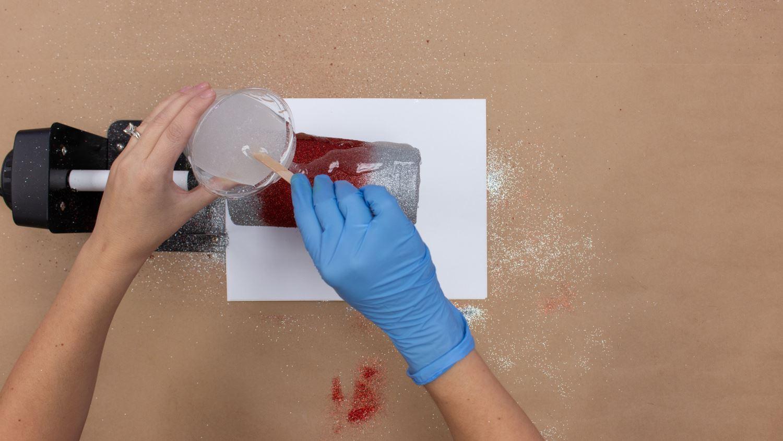 Pour epoxy over tumbler