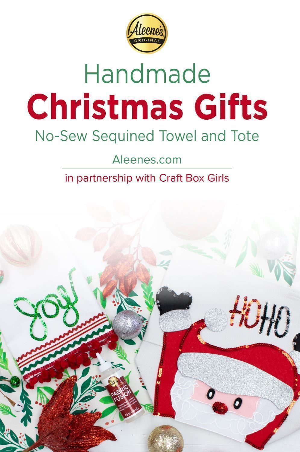 Tote and Towel Easy DIY Christmas Gifts