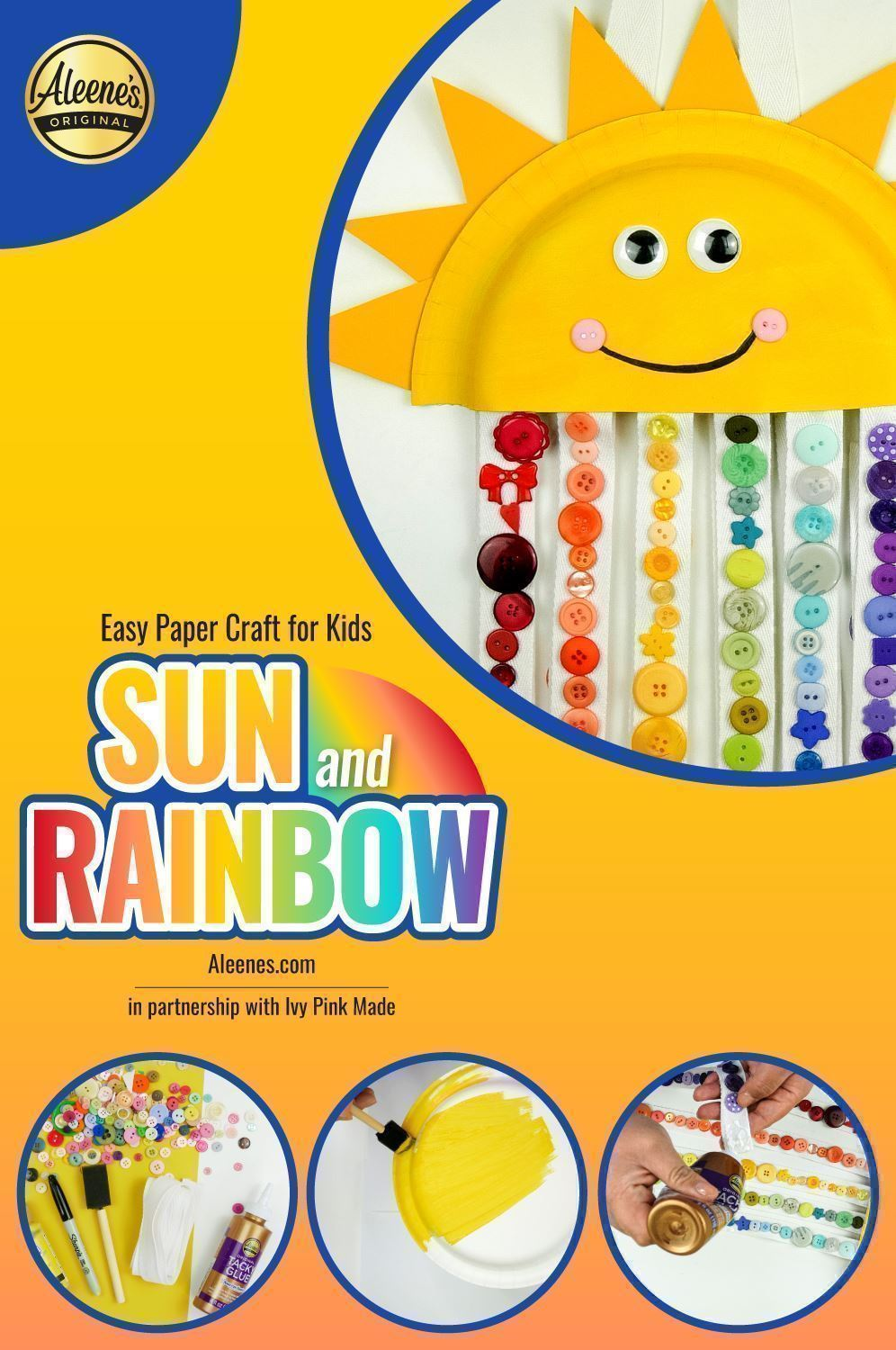 Easy Paper Craft for Kids: Sun and Rainbow