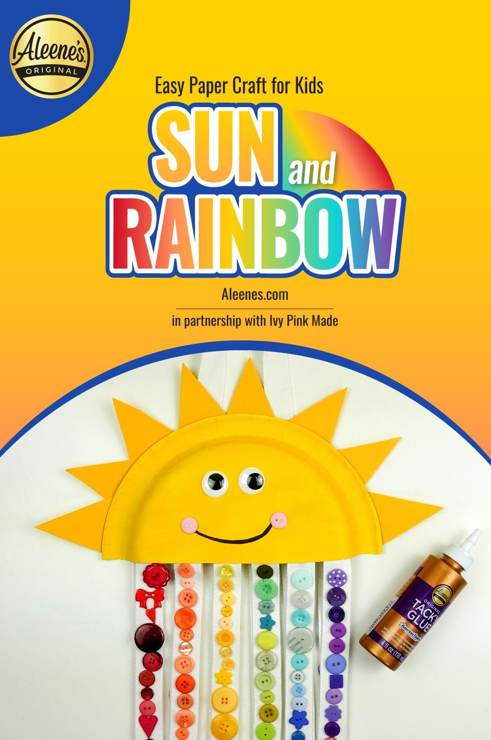 Picture of Easy Paper Craft for Kids: Sun and Rainbow