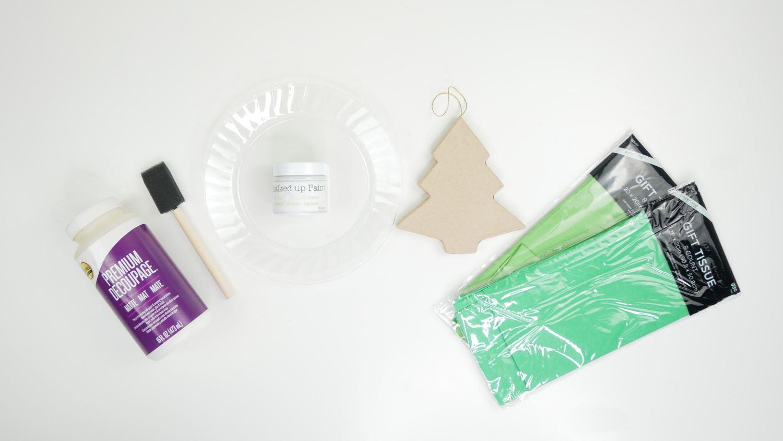 Christmas tree ornament supplies
