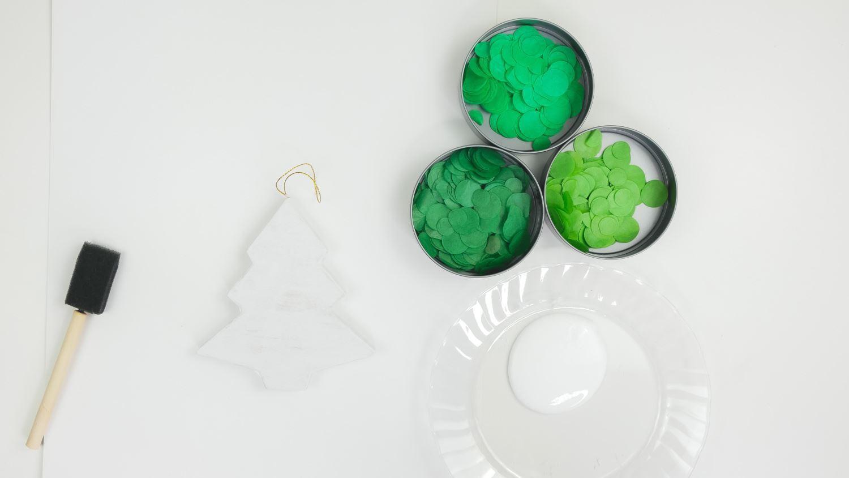 Cut out green circles