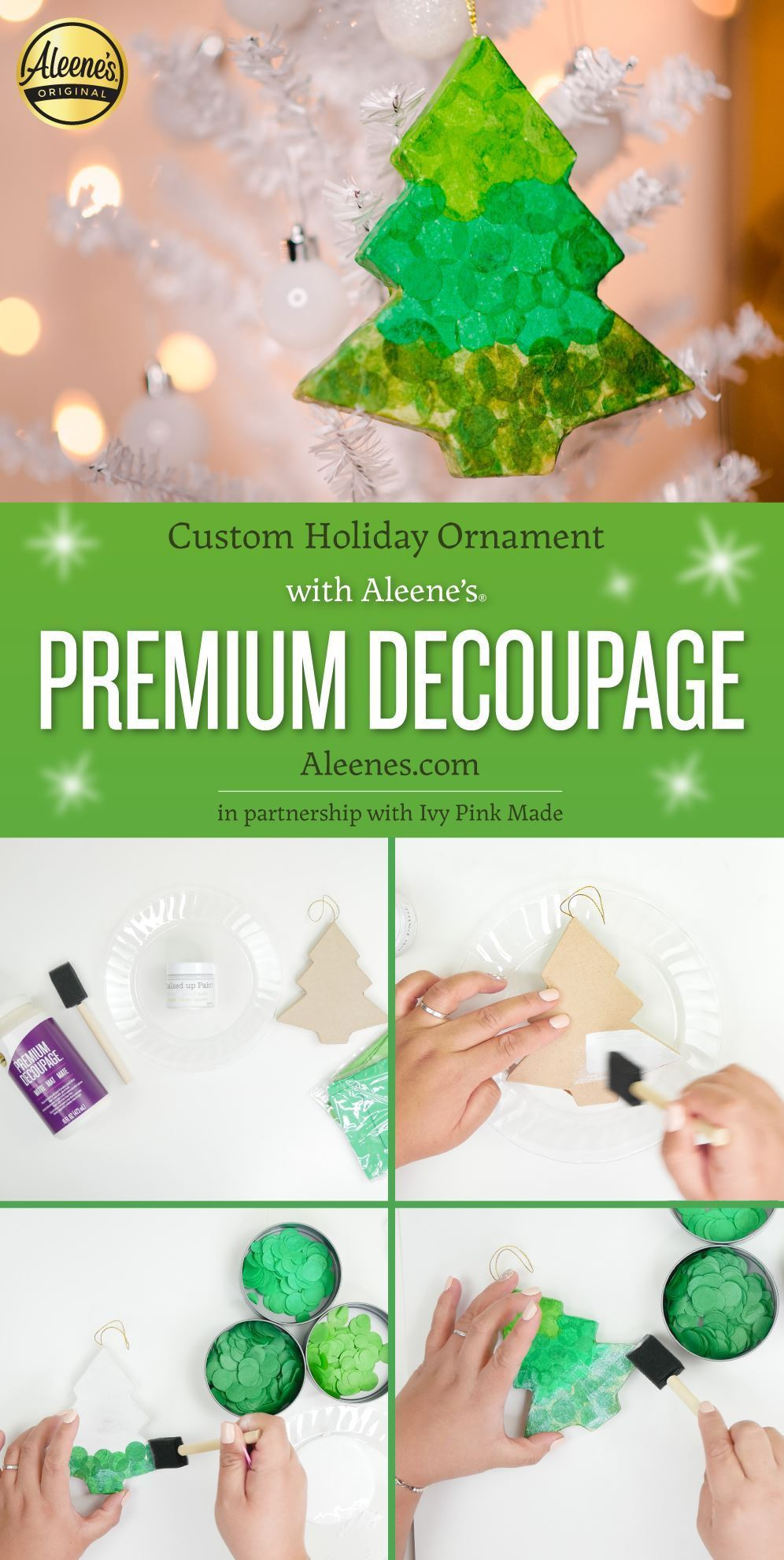 Custom Holiday Ornament with Decopauge