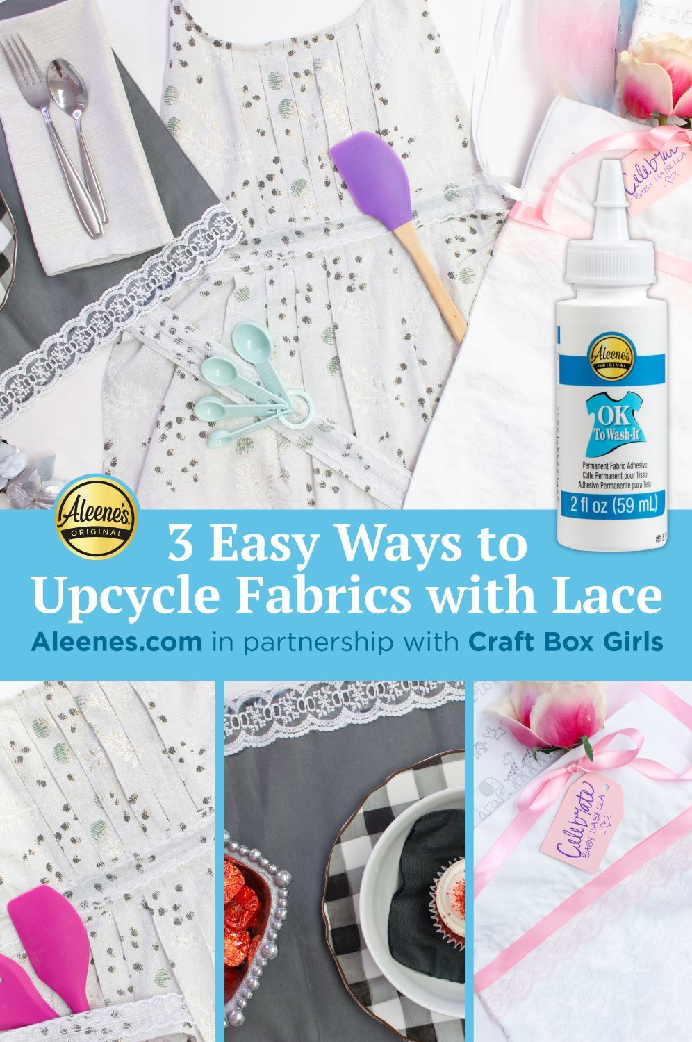 Picture of 3 Ways to Upcycle Fabrics with Lace and Fabric Glue