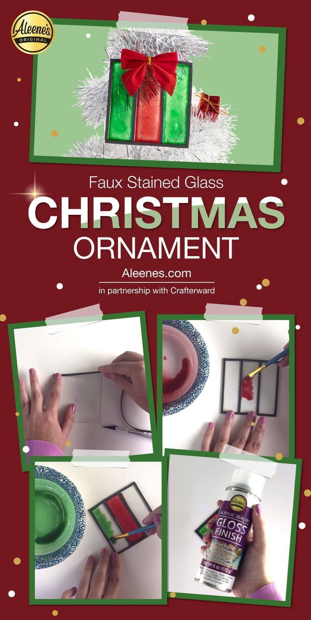 Faux Stained Glass DIY Christmas Ornament