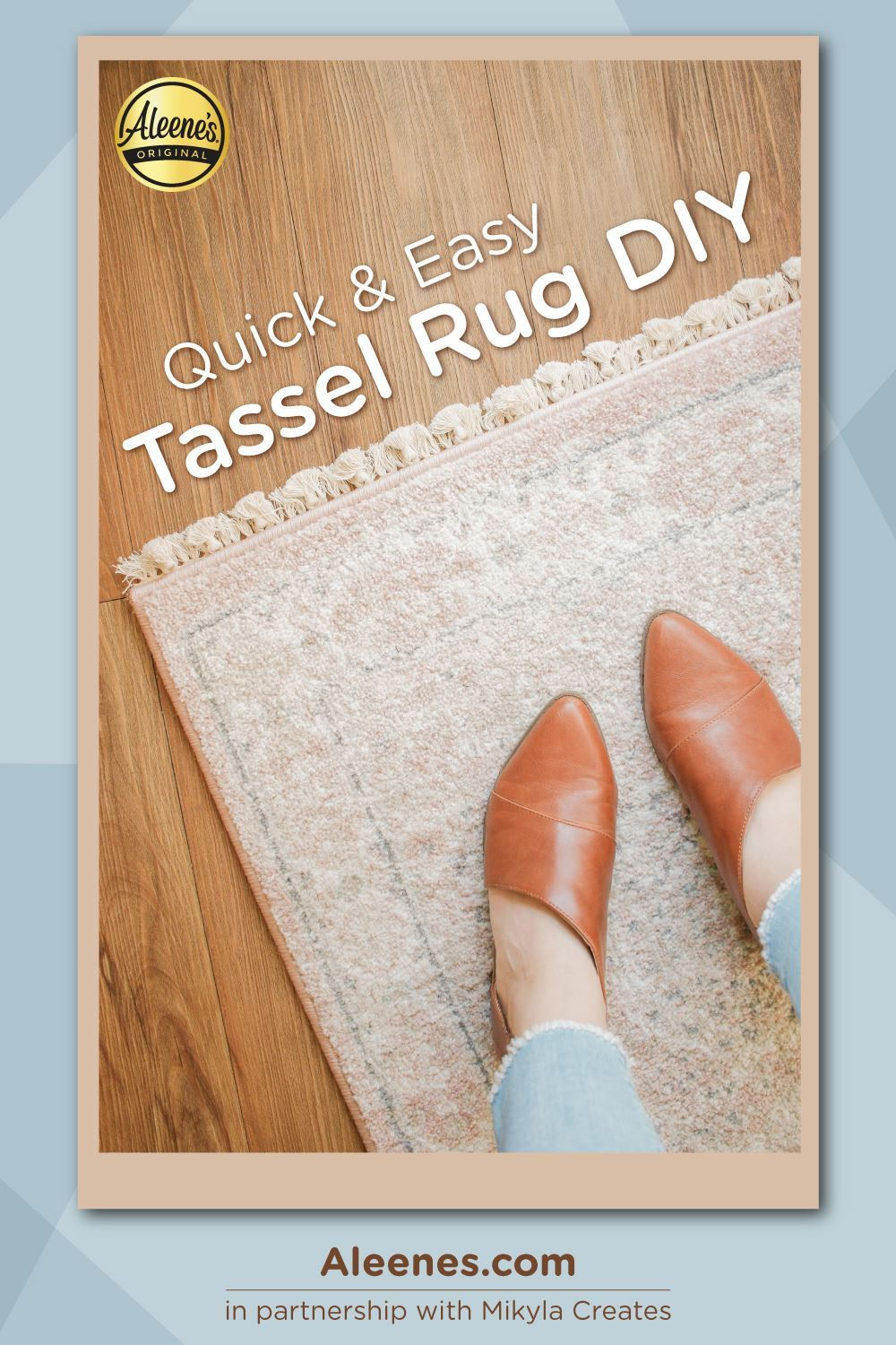 Picture of Quick and Easy Tassel Rug with Fabric Glue