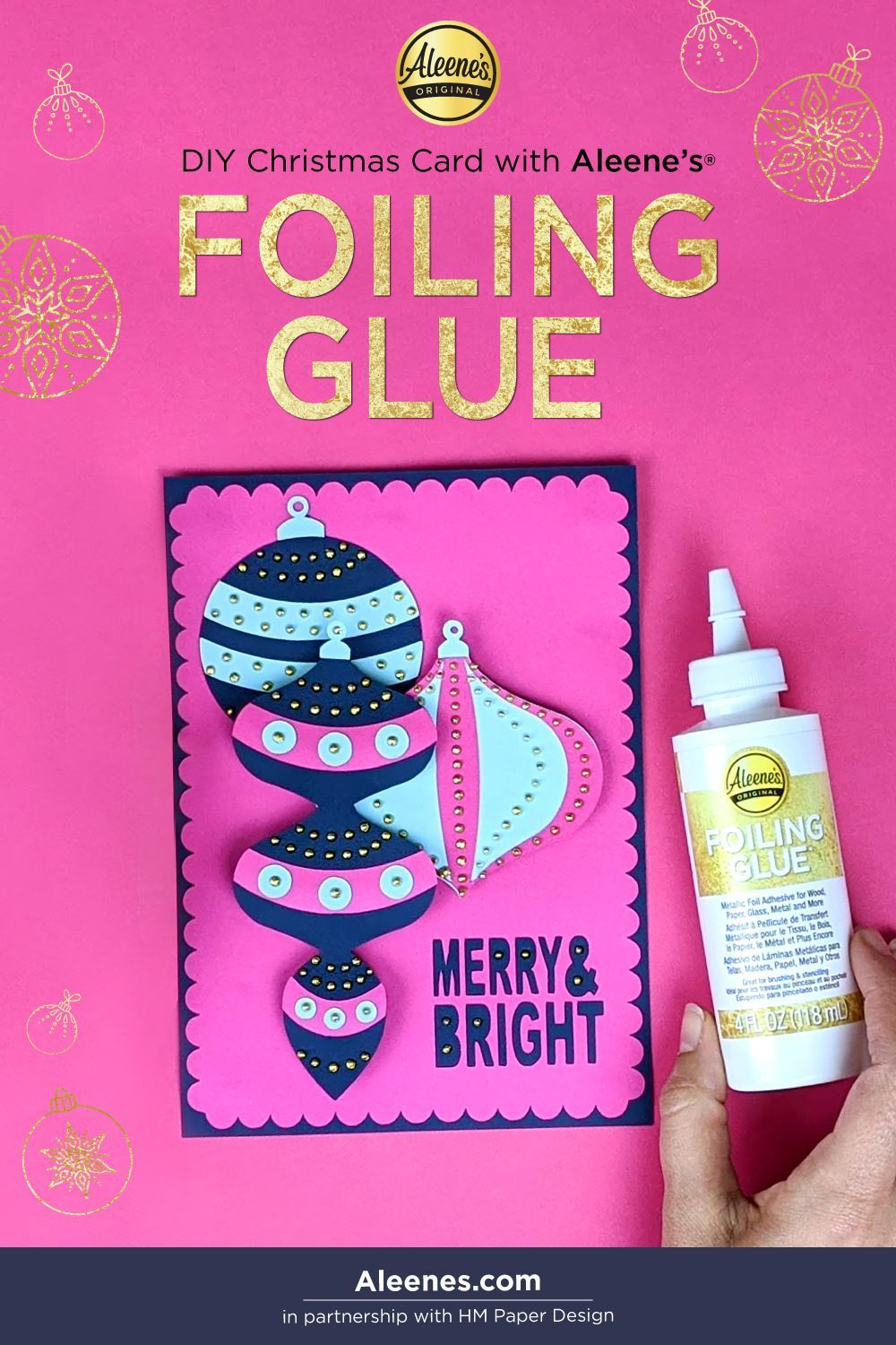 Picture of DIY Christmas Card Idea with Foiling Glue
