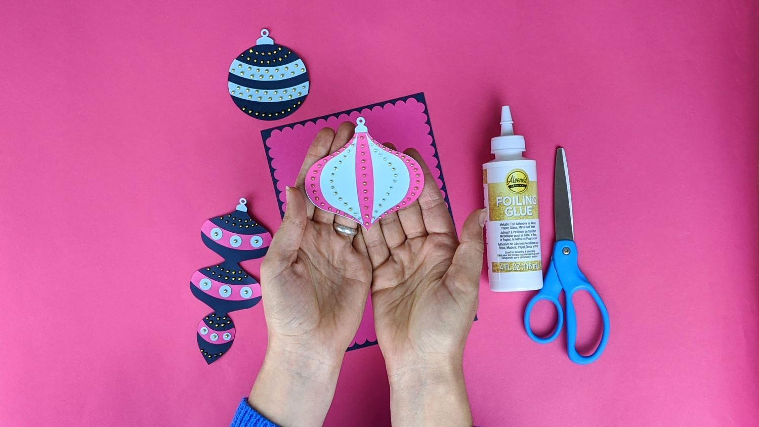 Print, cut out and glue ornament pieces