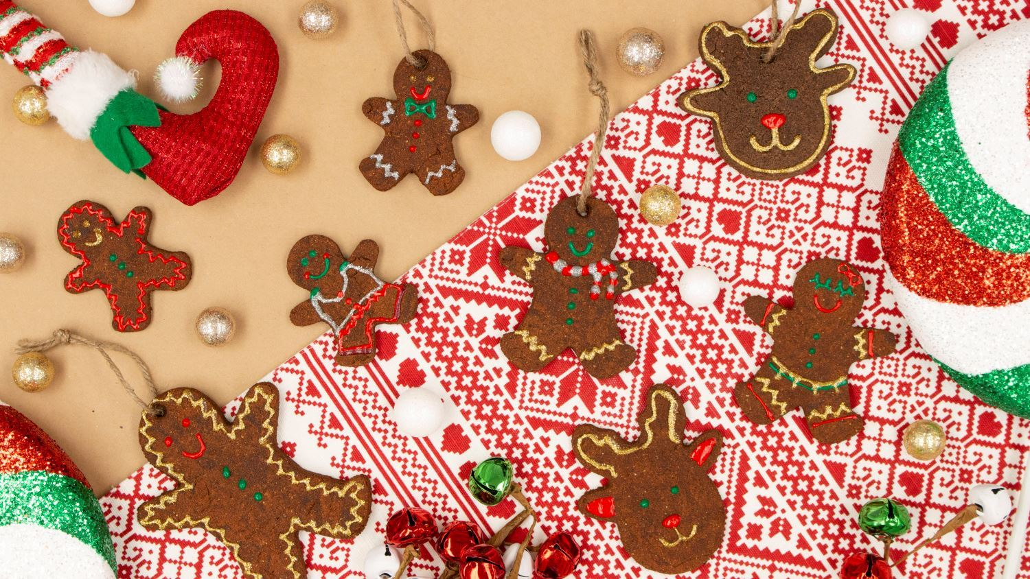 Cinnamon Dough Gingerbread Men Ornaments