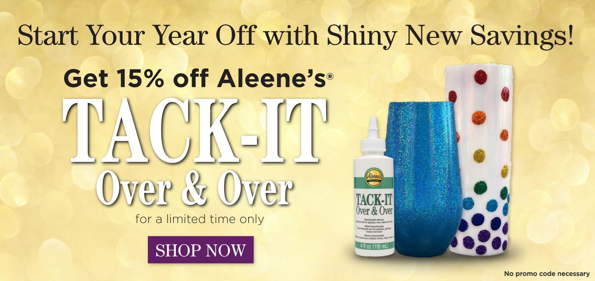 15% Off Aleene's Tack It Over & Over -- January 2021