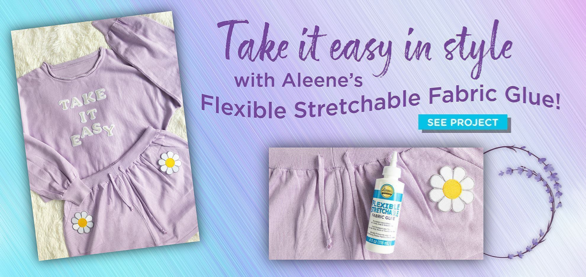 How to Glue Patches on Stretchy Loungewear