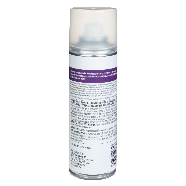 Aleene's® Spray Acrylic Sealer Super Gloss 6 oz. back of can