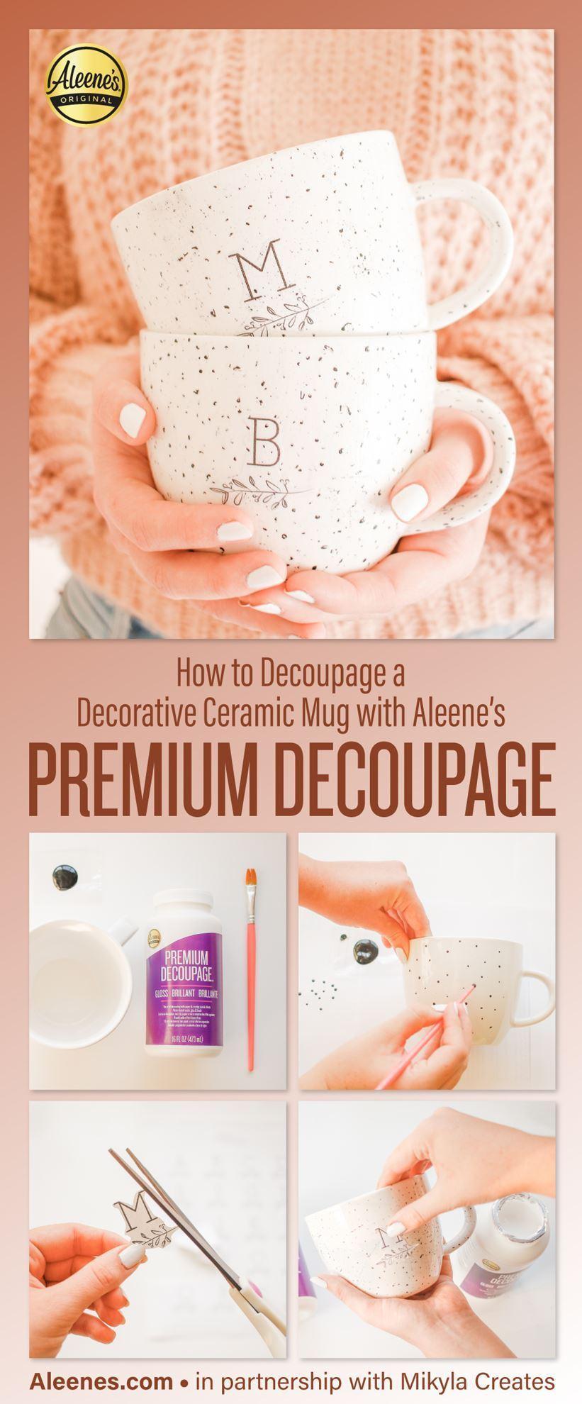 How to Decopauge a Ceramic Mug