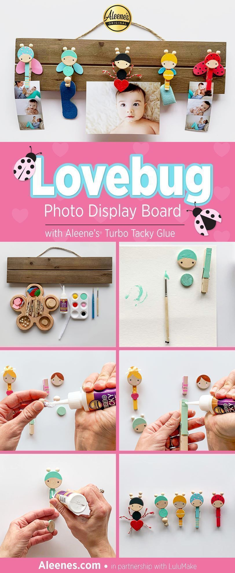 Lovebug Photo Display DIY with Aleene's Turbo Tacky