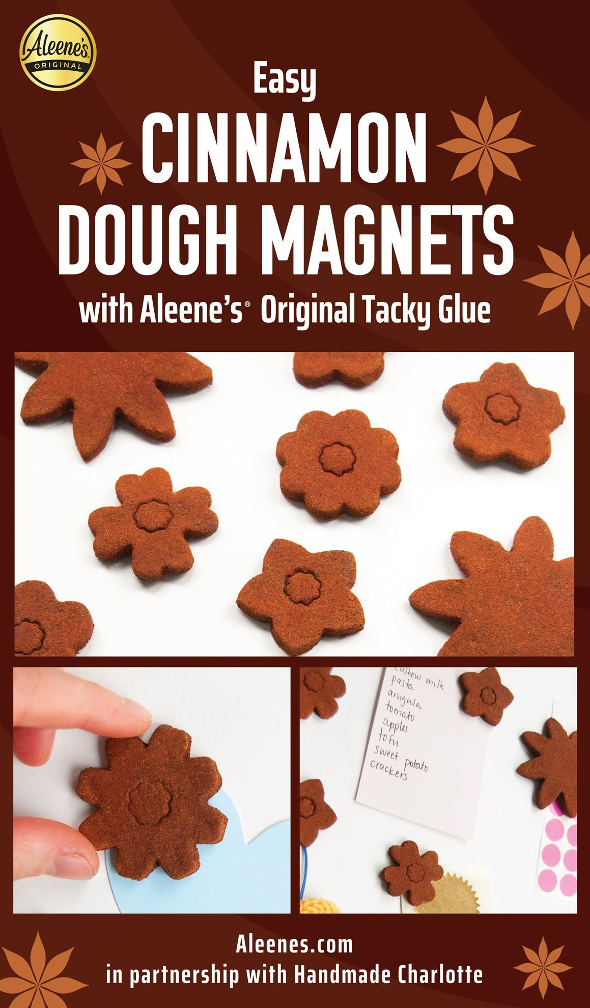 Picture of Easy Cinnamon Dough Magnets with Tacky Glue