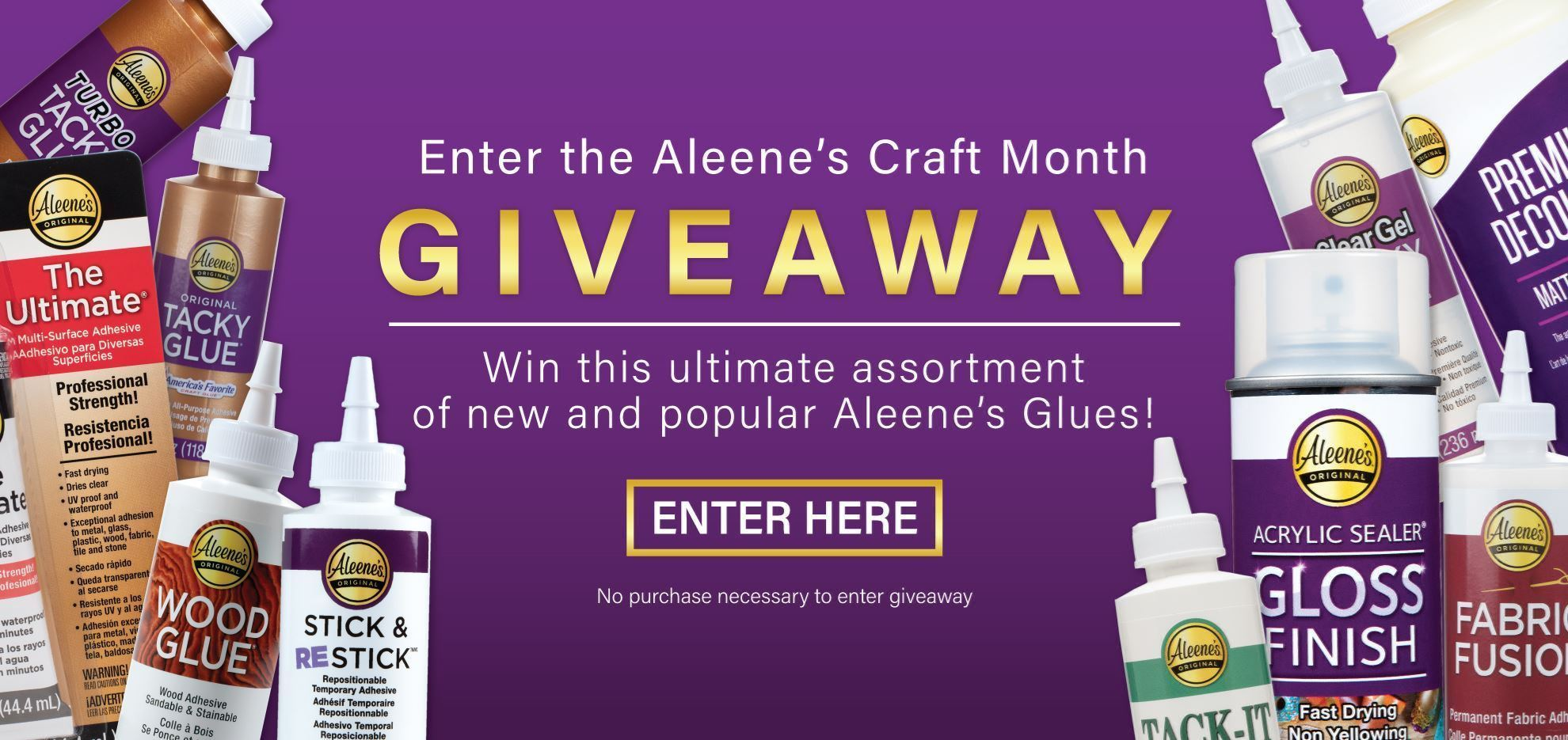 March 2021 Aleene's Craft Month Giveaway