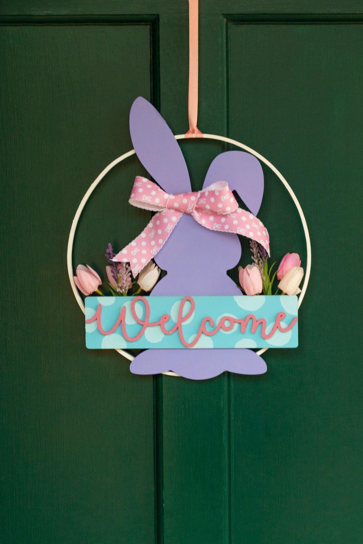Hang wreath on front door