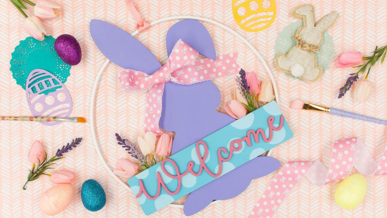 Easter décor idea – bunny door wreath