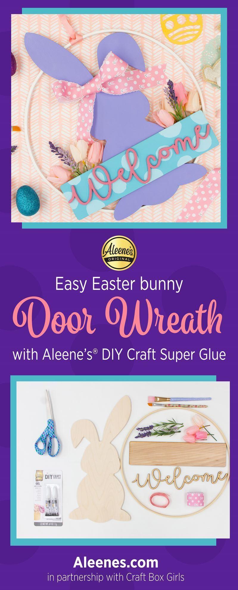 Easter Décor Idea: Bunny Door Wreath