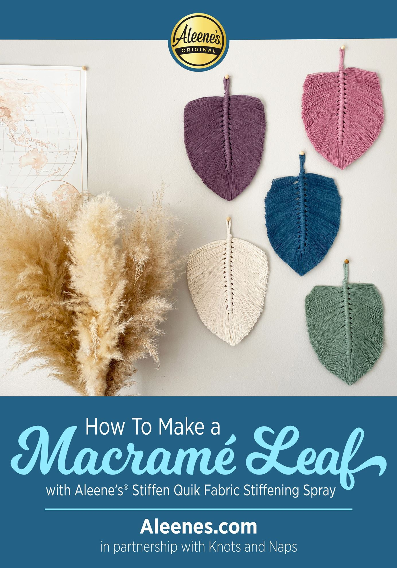 Picture of How To Make a Macrame Leaf with Fabric Stiffener