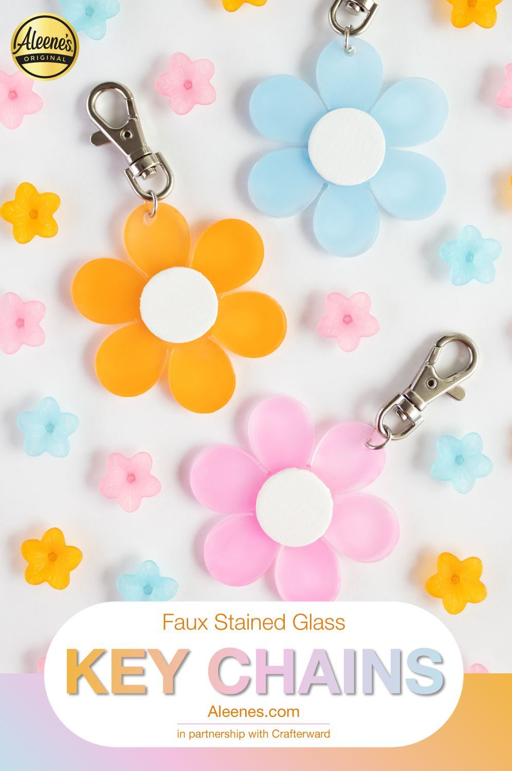 Picture of DIY Faux Stained Glass Keychains