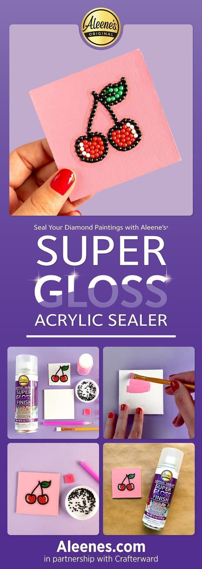 How to Seal a Diamond Painting with Spray Sealer