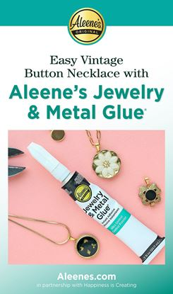Picture of Easy Vintage Button Necklace with Jewelry Glue