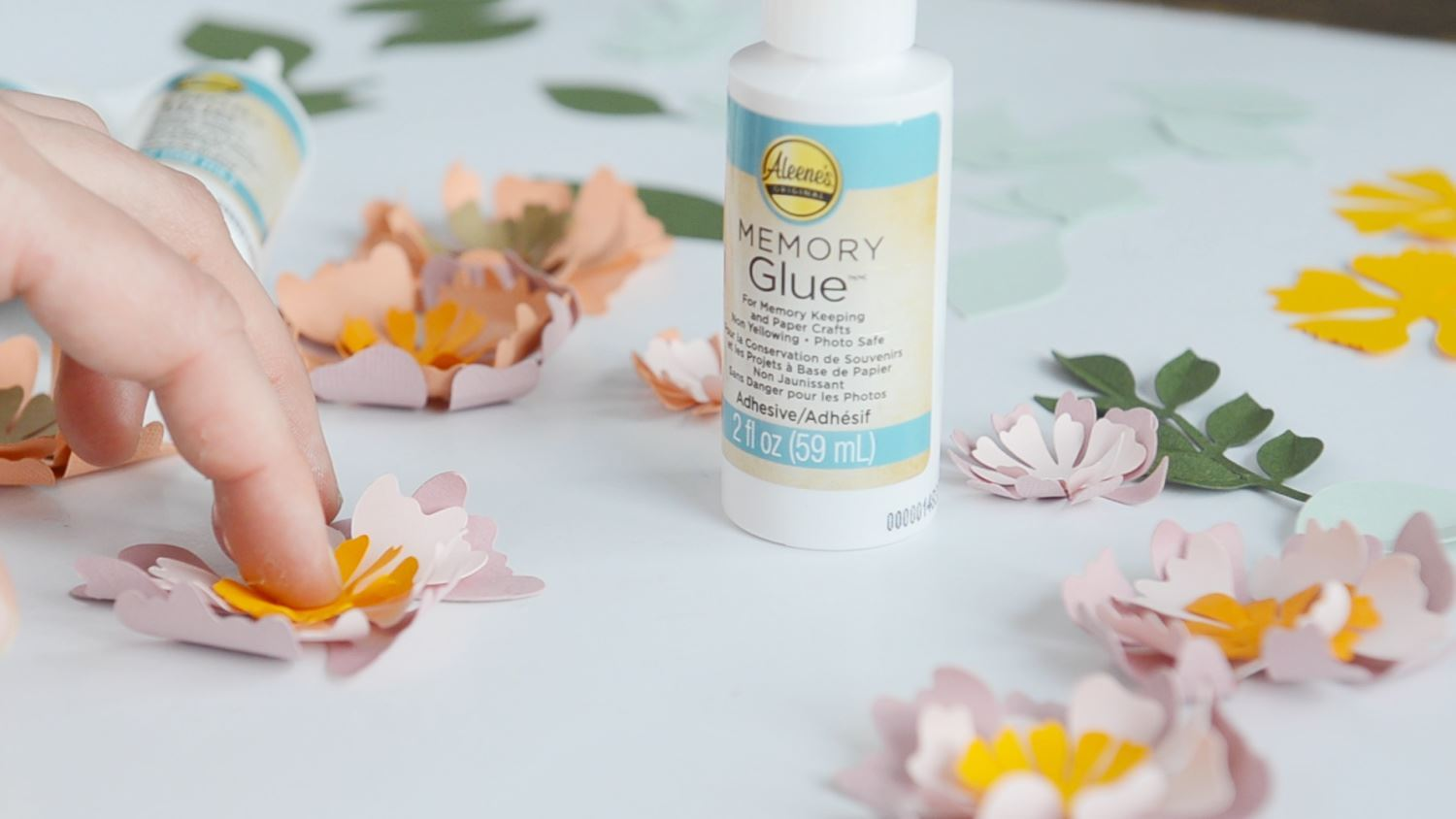 Continue gluing flower layers
