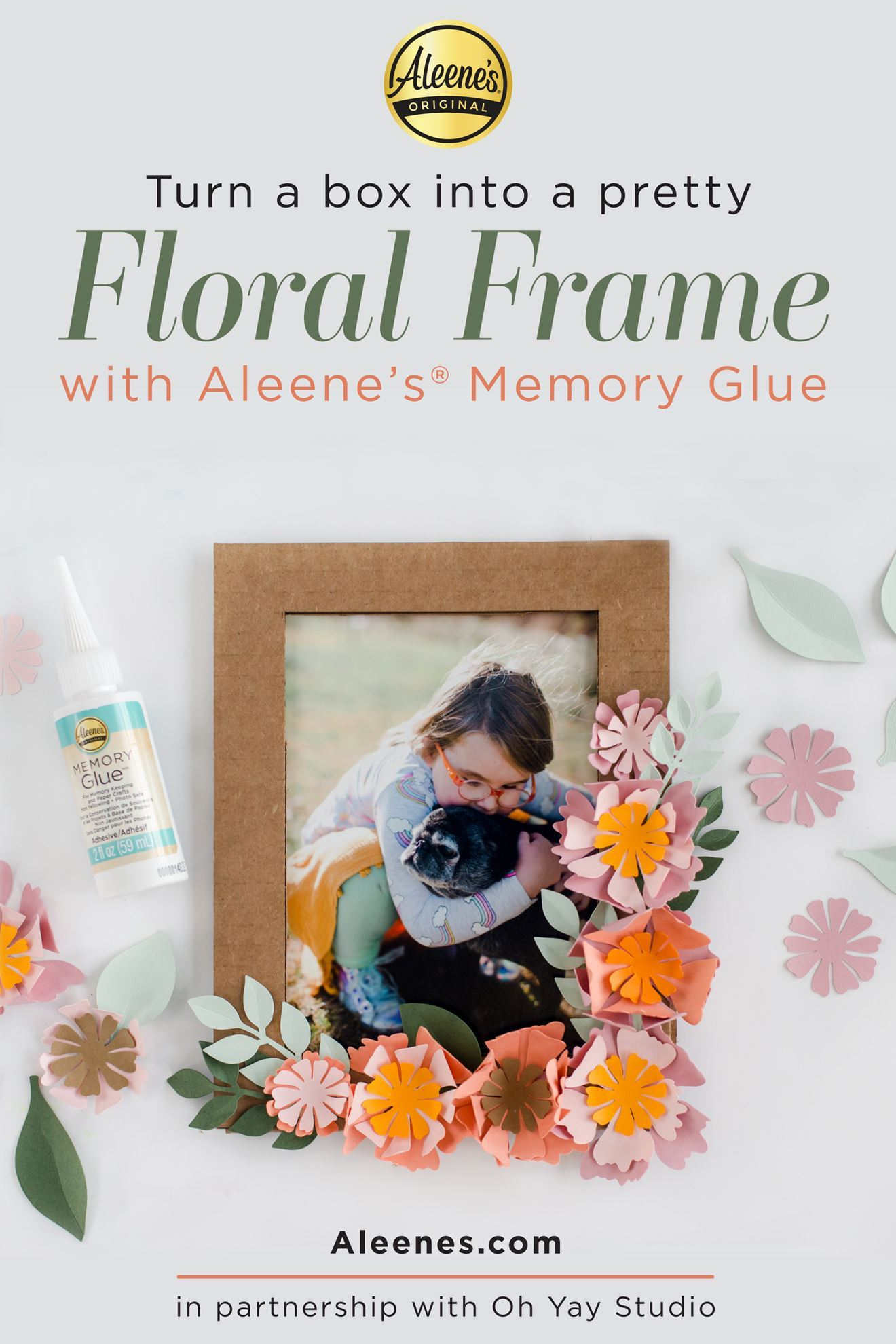 Picture of Paper Flower Frame Spring Craft with Memory Glue
