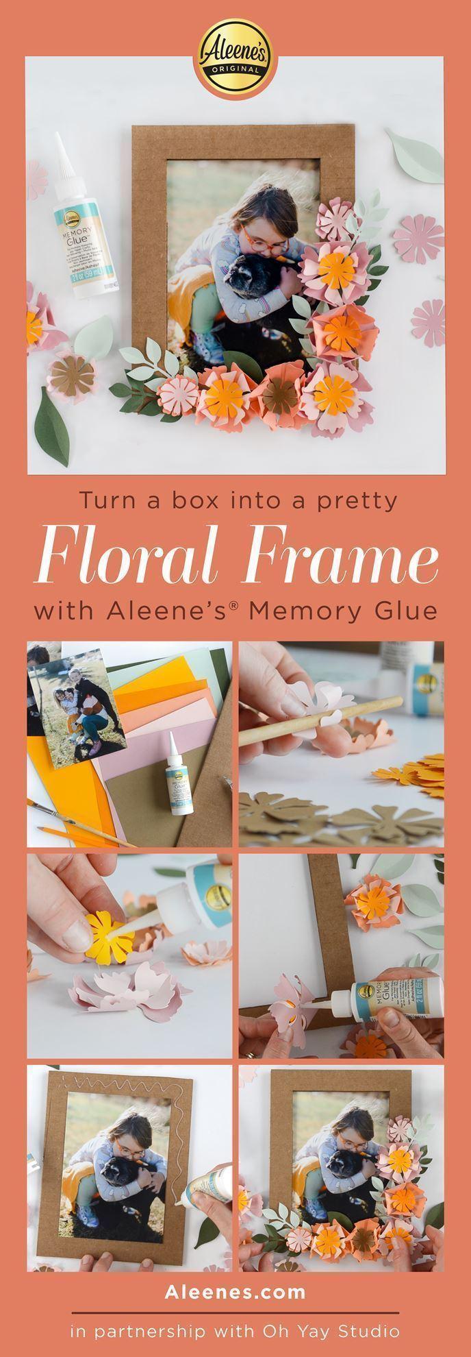 Paper Flower Frame Spring Craft with Memory Glue