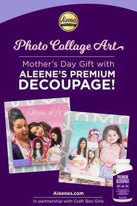 Picture of Photo Collage Art with Decoupage