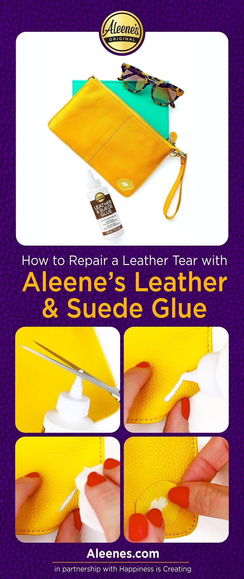 How To Repair a Leather Tear with Leather Glue