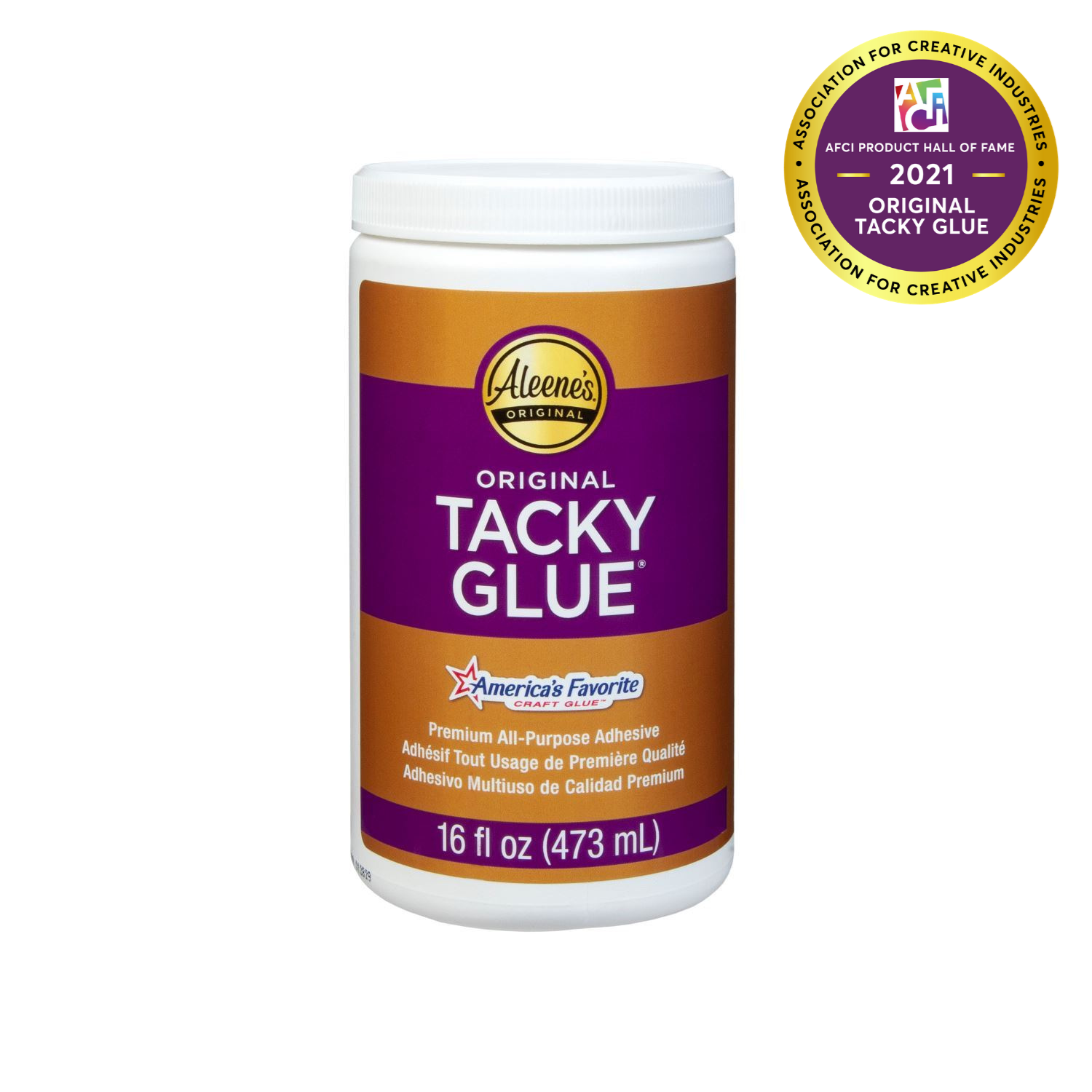 Aleene's® Original Tacky Glue 16 oz. Jar -  Aleene's Original Tacky Glue Inducted into AFCI Product Hall of Fame