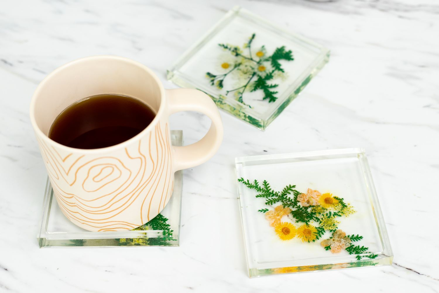 Epoxy Resin Pressed Flower Coasters