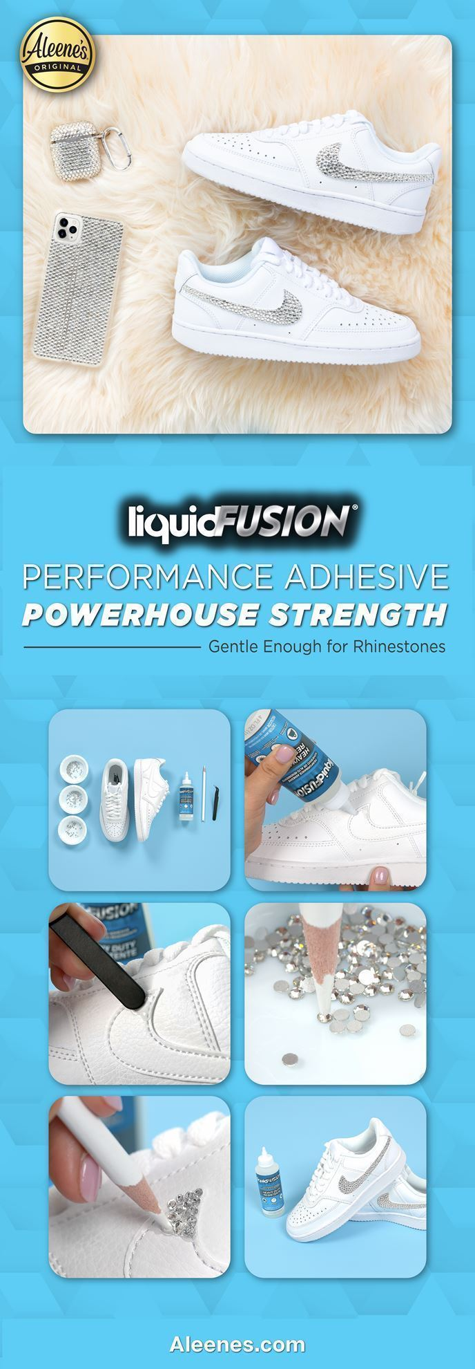 Rhinestone DIYs with Liquid Fusion