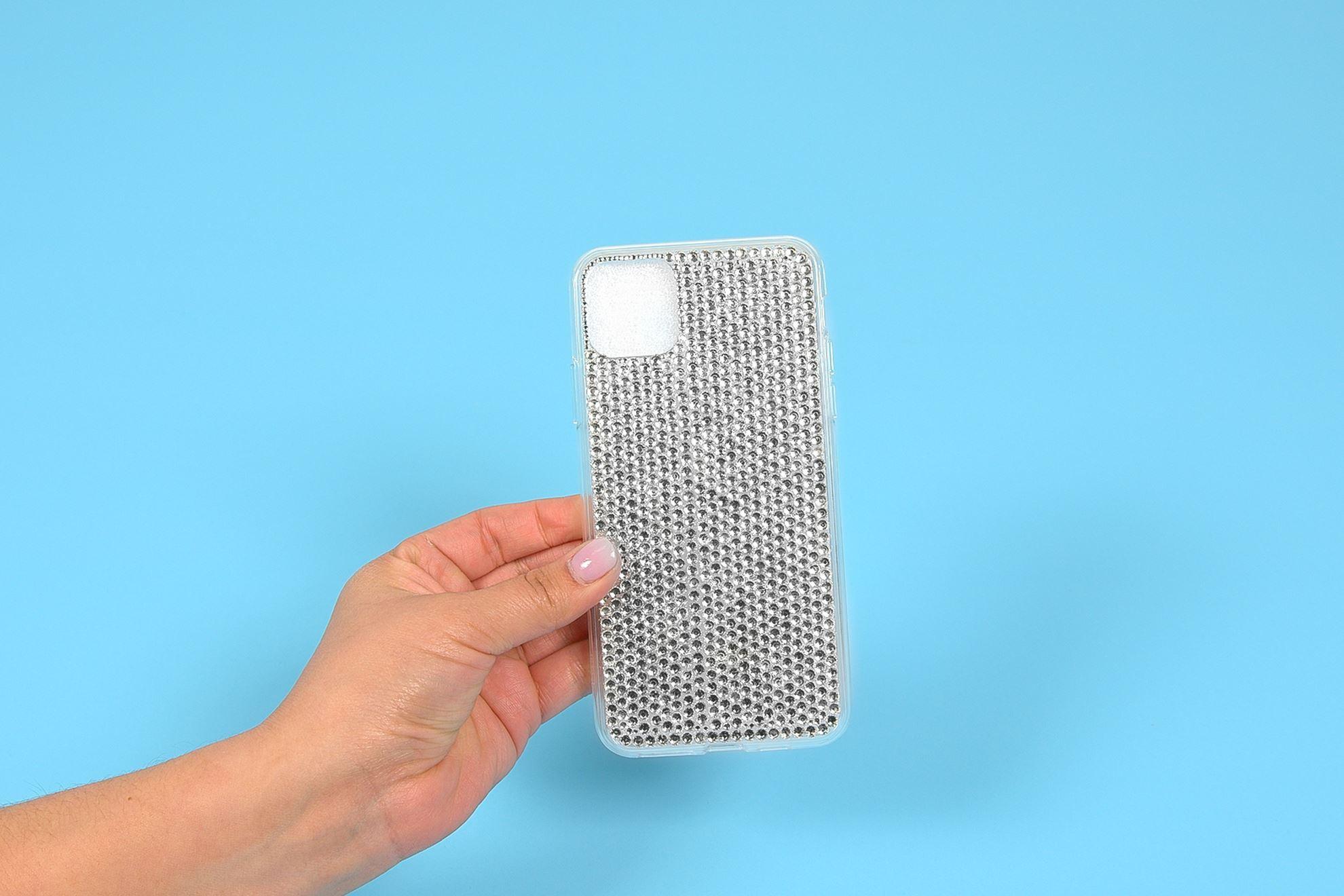 Rhinestone phone case with Liquid Fusion