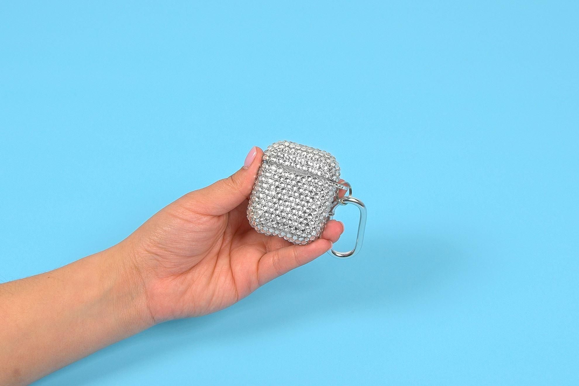 Rhinestone keychain with Liquid Fusion